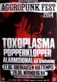 AGGROPUNK FEST - 2014 - Plakat - Punk - Toxoplasma - Poster - Oberhausen