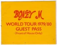 BONEY M - 1979/80 - Pass - Gäste - Guest - World Tour