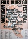 AMERICAN FOLK & BLUES - 1980 - Plakat - Günther Kieser - Poster