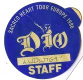 DIO - 1986 - Pass - Sacred Heart - Staff