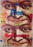 FREE - COLOSSEUM - 1970 - Plakat - Günther Kieser - Poster - Hannover