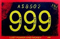 999 - NINE NINE NINE - 1987 - Tourplakat - Punk - Lust Power... - Tourposter