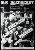 EMERSON LAKE & PALMER - 1972 - Plakat - Günther Kieser - Poster - Frankfurt