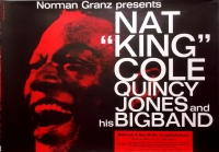 COLE, NAT KING - 1960 - Konzertplakat - Kieser - Quincy Jones - Tourposter - Ess