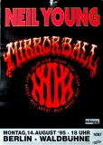 YOUNG, NEIL - 1995 - Plakat - In Concert - Mirrorball Tour - Poster - Berlin