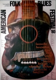 AMERICAN FOLK & BLUES - 1980 - Plakat - Günther Kieser - Poster - A0