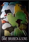 BRUBECK, DAVE & SONS - 1974 - Plakat - Günther Kieser - Poster
