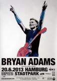 ADAMS, BRYAN - 2013 - Konzertplakat - Concert - Tourposter - Hamburg