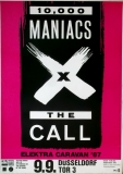 10.000 MANIACS - 1987 - Konzertplakat - The Call - Tourposter - Düsseldorf
