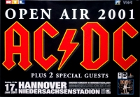 AC/DC - ACDC - 2001 - Konzertplakat - Concert - Open Air - Tourposter - Hannover