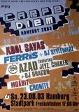 CAPE DIEM - 2003 - Plakat - Kool Savas - Ferris Mc - Azad - Poster - Hamburg