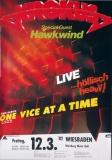 KROKUS - 1982 - Plakat - Hawkwind - One Vice At... Tour - Poster - Wiesbaden