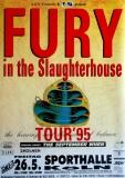 FURY IN THE SLAUGHTERHOUSE - 1995 - Plakat - In Concert - Poster - Köln