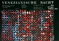 KARNEVAL - FASCHING - 1970 - Plakat - Venezianische Nacht - Poster - München