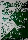 BRAUHAUS PRÄSENTIERT - 1981 - Plakat - Ideal - UKW - NDW - Poster - Berlin