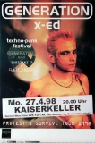 GENERATION XD - 1998 - Konzertplakat - Claire Obscure - Substanz T - Poster