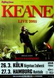 KEANE - 2005 - Plakat - In Concert - Wainwright - Tour - Poster - Köln