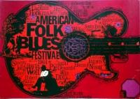 AMERICAN FOLK & BLUES - 1964 - Plakat - Günther Kieser - Poster