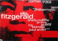 JAZZ AT THE PHILHARMONIC - Tourplakat - Kieser - Ella Fitzgerald - Concert