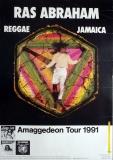 ABRAHAM, RAS - 1992 - Tourplakat - Reggae - Jamaica - Amaggedeon - Tourposter