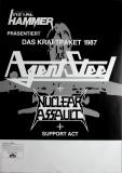 AGENT STEEL - 1987 - Tourplakat - Concert - Nuclear Assault - Tourposter