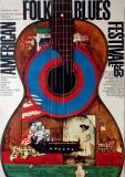 AMERICAN FOLK & BLUES - 1964 - Plakat - Günther Kieser - Poster - Frankfurt