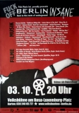 BERLIN INSANE - 2008 - Plakat - Neubauten - Mona Mur - Giger - Poster - Berlin