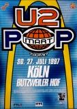 U2 - U 2 - 1997 - Konzerplakat - Concert - Popmart - Tourposter - Köln