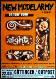 NEW MODEL ARMY - 2000 - Plakat - In Concert - Eight Tour - Poster - Göttingen