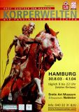 KÖRPERWELTEN - 2004 - Plakat - Gunther van Hagen - Hamburg - B